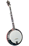 Flinthill FHB-300 Traditional 5-String Resonator Banjo - Flat Head