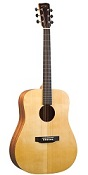 RD-A3M RECORDING KING EZ TONE SOLID SPRUCE TOP GUITAR, DREADNOUGHT