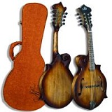 Morgan Monroe MFM-750 F Style Walnut Finish Mandolin with Case - Bluegrass Instruments