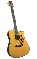 Blueridge BR-180CE Historic Series Cutaway Acoustic-Electric Dreadnaught Guitar - Bluegrass Instruments