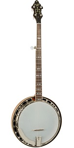 RK-M7 RECORDING KING USA SERIES RESONATOR BANJO, MAHOGANY