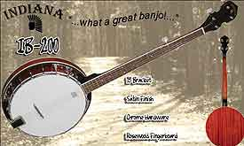 Indiana Resonator Banjo Package