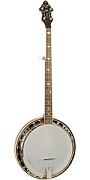 RK-M5 RECORDING KING USA SERIES RESONATOR BANJO, FLAME MAPLE